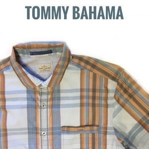 Tommy Bahama Shirt Button Front Short Sleeve